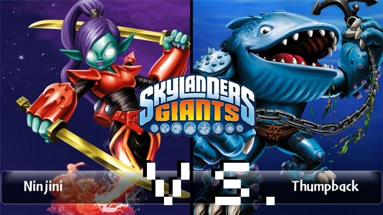 Skylanders giants battle mode scarlet ninjini vs thumpback youtube - Skylanders thumpback ...