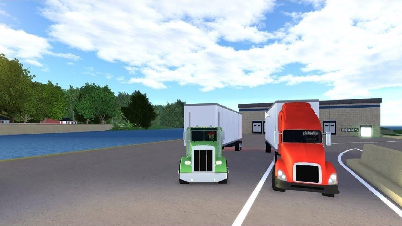 Roblox Ultimate Driving 07 Trucker Job Hauling Long Trailer W