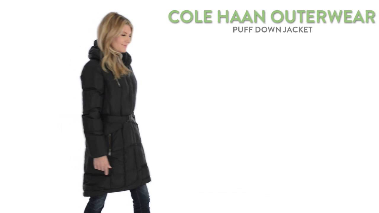 Cole Haan Outerwear Puff Down Jacket Belted For Women Youtube