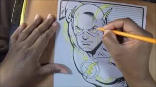 Crayola Art With Edge  The Flash Colored with Crayola Colored Pencils Narrated