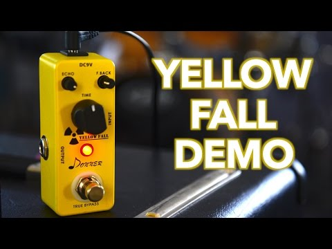 Donner Yellow Fall Delay Pedal Demo