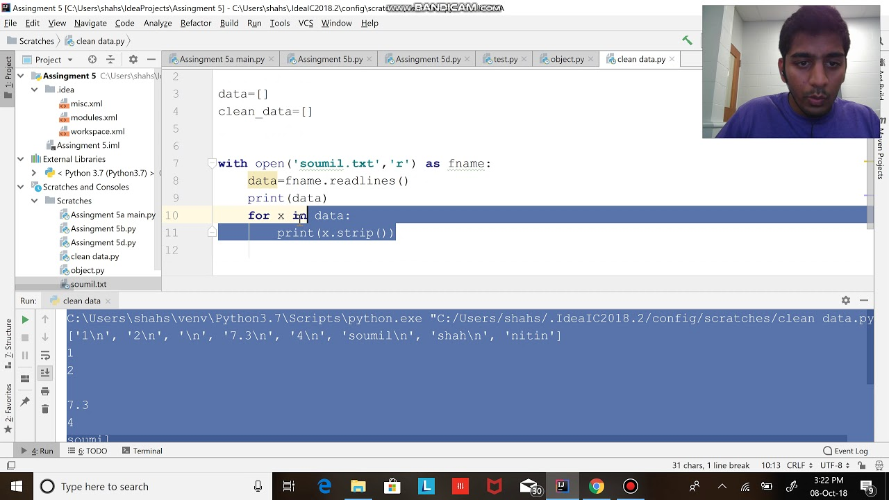 how to remove white space and blank line in python While