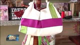 TUDO DE BOM – Artesanato – bolsa de tecido