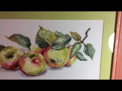 Алиса вышивка крестом яблоки