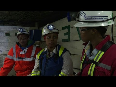 S.African Female Miners Break Ground For Their Gender