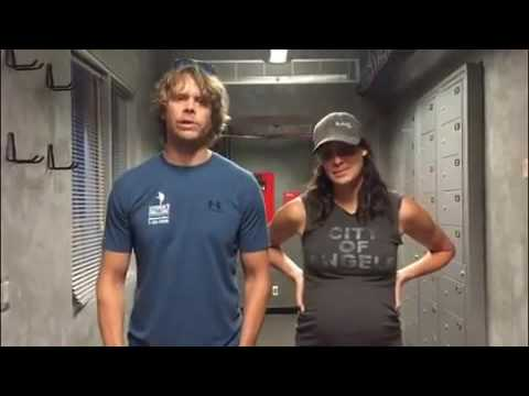 22 push-up challenge Eric Christian Olsen and Daniela Ruah