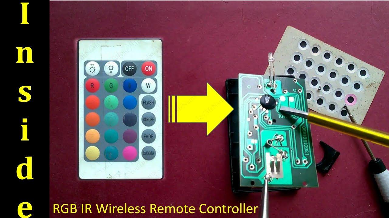 RGB IR Wireless Remote Controller - YouTube