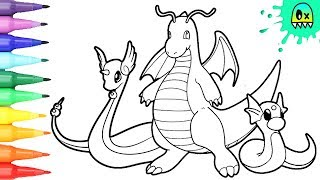 Pokemon Coloring Pages Dragonite I Fun Coloring Videos For Kids