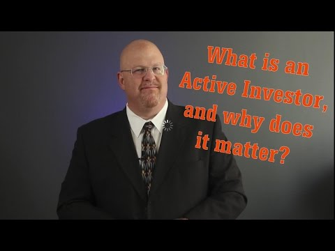 Entertainment Law: What is an Active Investor?