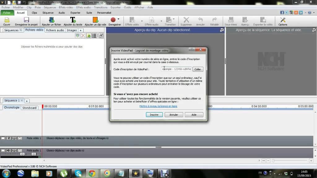 registration code for videopad 6.01