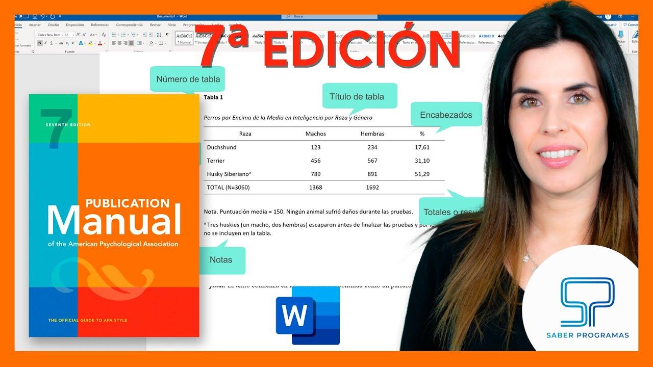 Word | Crear tablas según normas APA paso a paso en Word. Normas APA 7ma (séptima) edición.