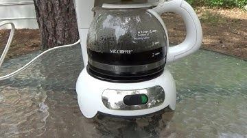 Off Grid Solar Power Brewing A Pot Of Coffee Using 0.07 KWH Of Solar