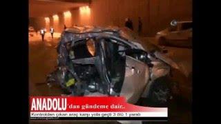 Kontrolden çıkan araç karşı yola geçti: 3 ölü, 1 yaralı!