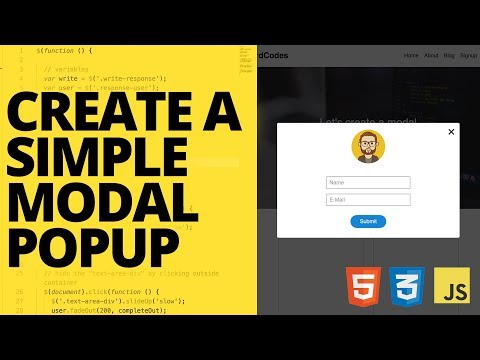 Create A Simple Modal Popup With HTML CSS And Javascript