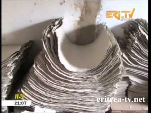 Eritrean News   Paper Recycling Factory in Asmara by EriTV