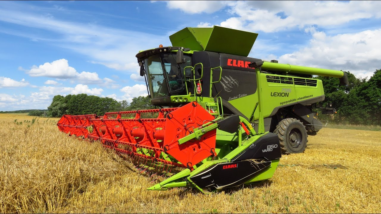 Prächtig 2 x Claas Lexion 795 - The monster on field - Limited Edition 2017 &UV_83