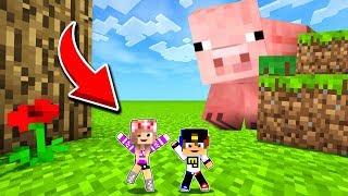 РЕБЕНОК И ДЕВУШКА Как пройти Майнкрафт но мы лилипуты  НУБ И ПРО ВИДЕО ТРОЛЛИНГ Minecraft
