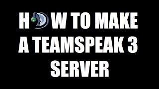 How To Make A Teamspeak 3 Server!!! (Windows PC Tutorial)