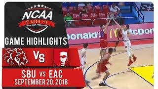 NCAA 94 MB: SBU vs. EAC | Game Highlights | September 20, 2018
