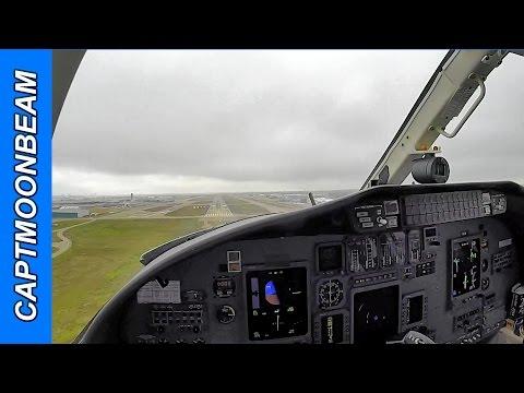 Cessna Citation Landing Dallas Love Field, Live ATC and ILS