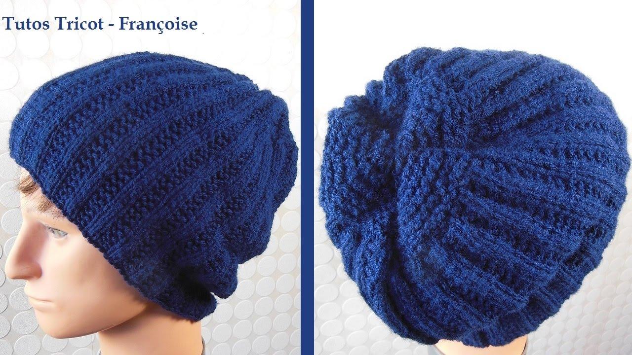 Tuto tricot bonnet c tes 2 2 mousse bonnet homme facile - Modele de bonnet a tricoter facile ...