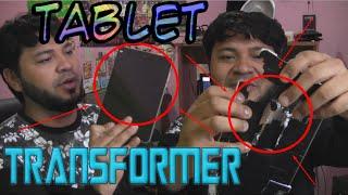 Tablet Transformer   Curiosa Tablet Se Transforma en Robot