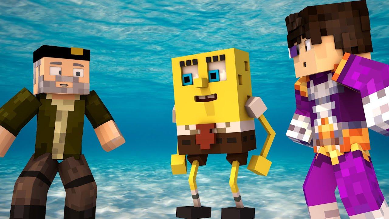 Minecraft Spongebob Build Battle