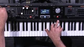 Roland V-Combo VR-09 Piano Editing