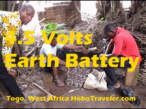 4 5 Volts Earth Battery Telluric Current Electricity Generated