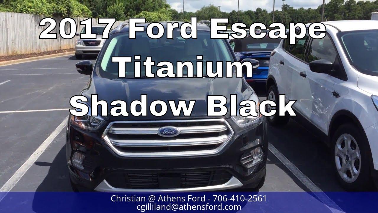 2017 ford escape titanium shadow black walk around look inside youtube. Black Bedroom Furniture Sets. Home Design Ideas