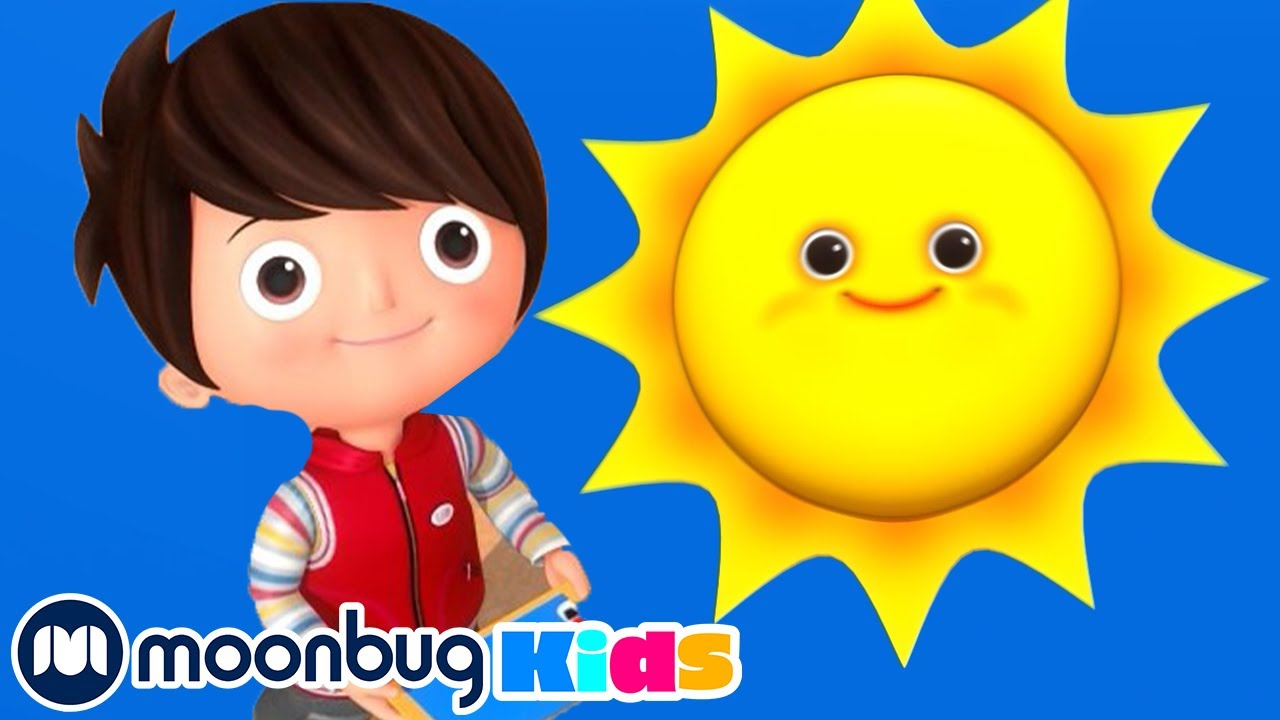 The Sun In The Sky Is Round And Yellow | Kids Learning | Little Baby Bum | Baby Song & Nursery Rhyme