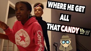 WHERE IS HE GETTING ALL THIS CANDY!? (KIDS SKIT)