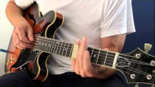 Slide guitar - Slow blues in C, on my Peerless guitar
