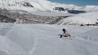 Lazy boy трюк на горных лыжах