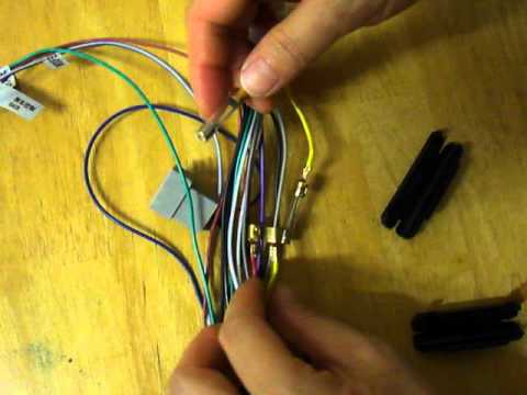 how to swap Car DVD wiring harness Yellow and red wire - YouTube