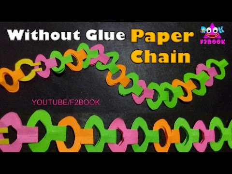 How To Make Paper Chain - Paper Crafts - Easy Diy - Tutorial ( F2BOOK ) Video 148