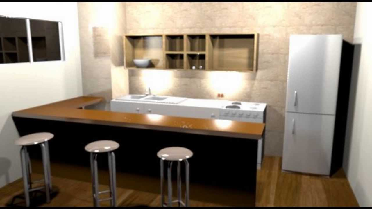 Cocina en 3d sweet home 3d youtube for Diseno cocinas 3d