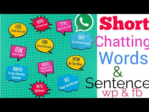 Short Whatsapp Chatting, Common Abbreviations Words Using Whatsapp, Facebook, Messenger, Chat Easily