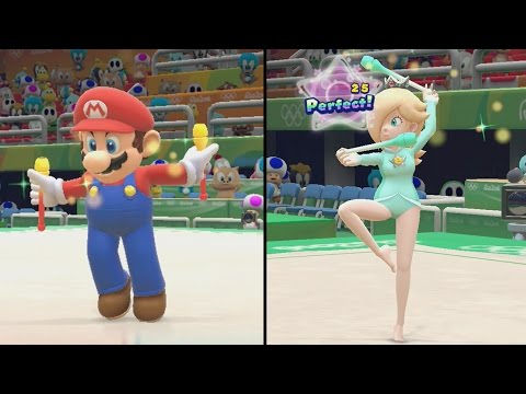Mario and Sonic at the Rio 2016 Olympic Games - Rhythmic Gymnastics (All Characters Gameplay)