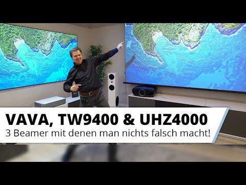Die Top 3 Wohnzimmer Beamer - VAVA Laser TV,  Epson TW9400 und Optoma UHZ4000
