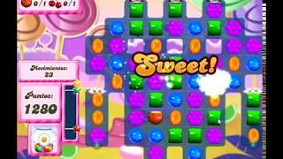 Candy Crush Saga Nivel 95 completado en español sin boosters (level 95)