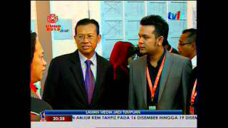 Ahmad Shabery Cheek (2013 12 03) - Visiting the RTM Operations Room