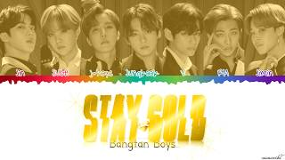 Download BTS (防弾少年団) - 'Stay Gold' ☀ Lyrics [Color Coded Kan_Han_Rom_Eng]