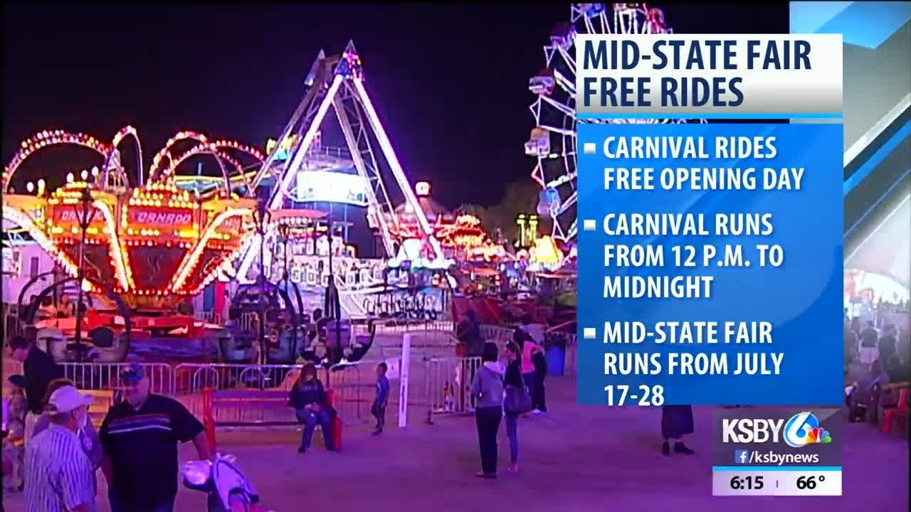 Carnival rides will be free on first day of California Mid-State Fair