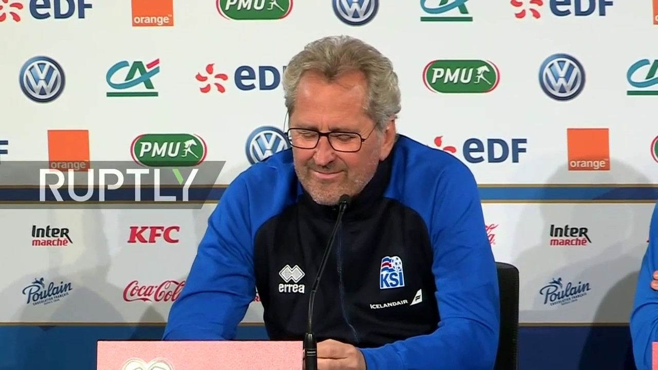 LIVE: Iceland coach Erik Hamren holds press conference before clash with France