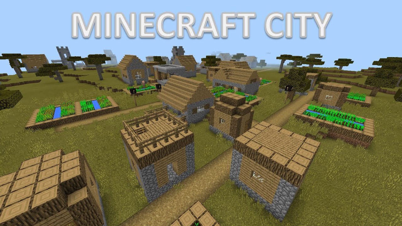 Minecraft PE Village city seed 3 villages in one Best Village seed ever - YouTube