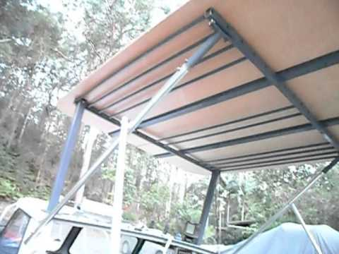 make a cheap boat aluminium hardtop DIY Part 9 - YouTube