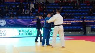 Спорт. Дзюдо. Чемпионат Кыргызстана-2018. День 2, татами B. Часть 1