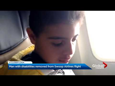 Hamilton Mother Son With Disablities Kicked Off Swoop Flight (Global News)