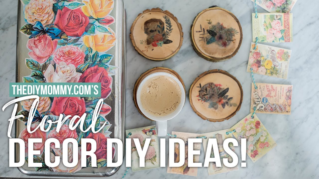 diy floral home decor ideas you can make with a printer - youtube